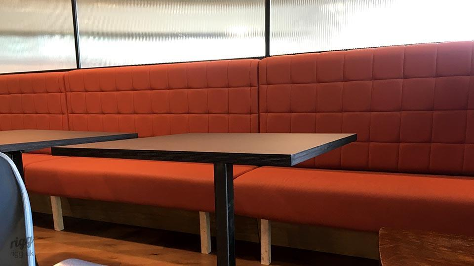 Cafe Bistro Tables For Banquette Seating