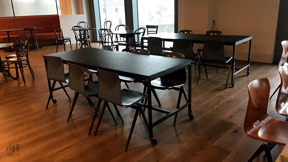 Office Canteen Dining Tables, Black, London Office