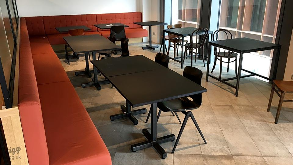 Small Cafe Tables in Office Canteen, London