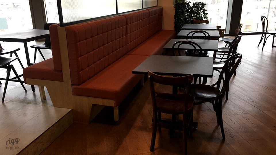 Small Pedestal Tables for Cafe Banquette Seating