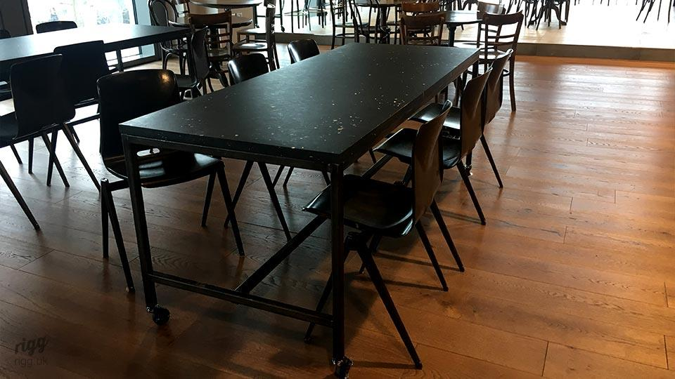 Work Canteen Tables on Castors