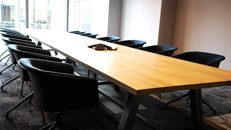 Contemporary Large Boardroom, Conference - Soild Oak
