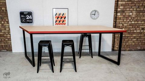 Bespoke Birch Plywood Office Tables