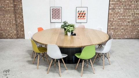 Large Round Industrial Meeting Table
