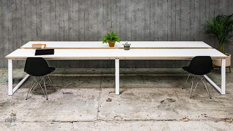 Loop Large Birch Plywood Bench Desk and Co-working Table