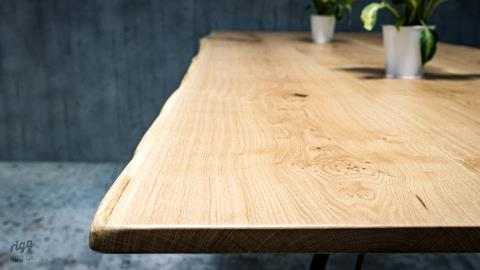 Waney Live Edge Oak High Table