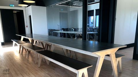Long Shared Workspace Table