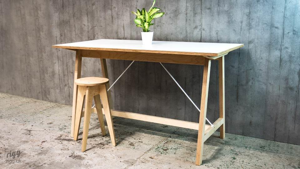 Birch Plywood Bar Table & Stool