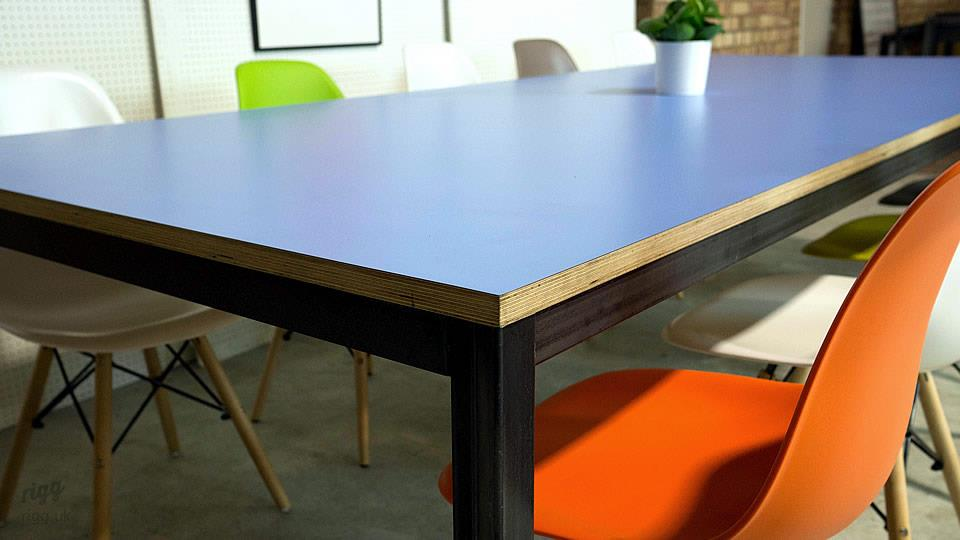 Blue Birch Plywood Office Table