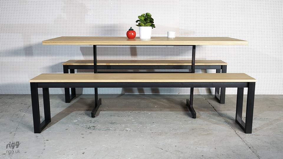 Cafe & Restaurant Table and Bench Set