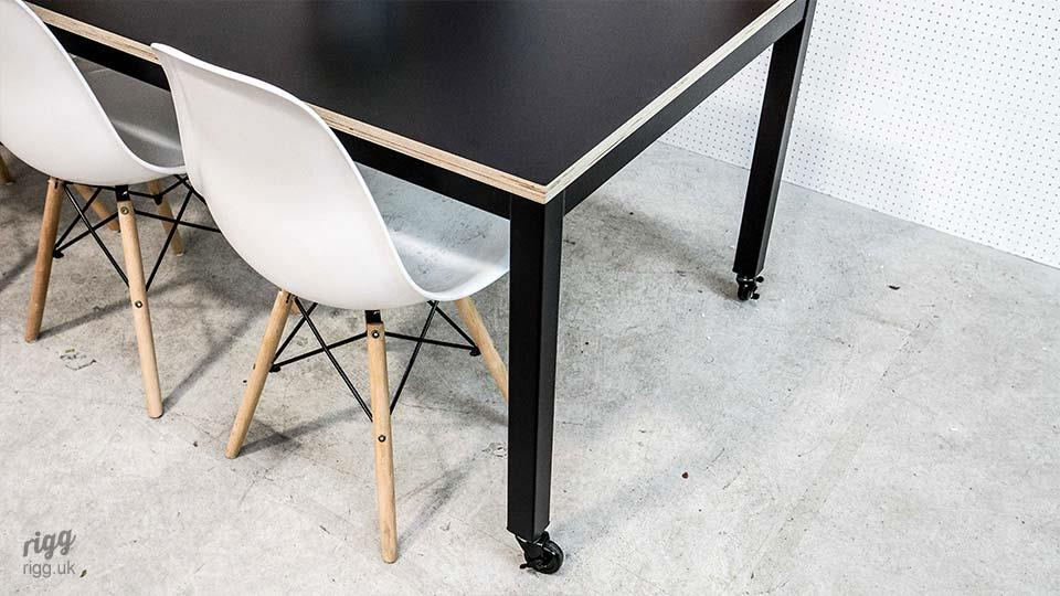 Contemporary Office Table - Plywood with Black Laminate