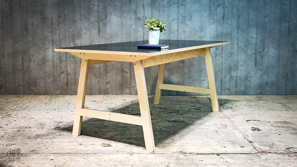 Contemporary Plywood Office Table for Meeting & Collaboration