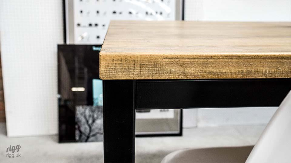 Meeting Table with Wood Top Black Frame