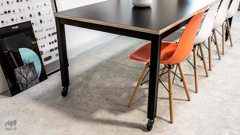 Modern Office Table on Castors