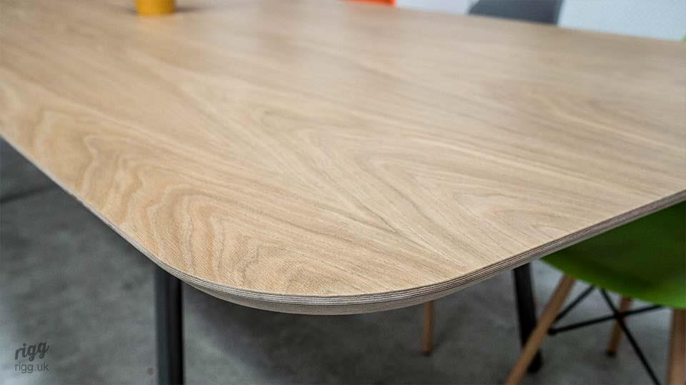 Oak Lozenge Boardroom Table
