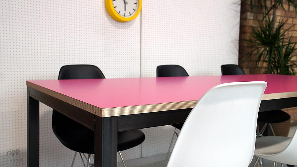 Pink Office Table