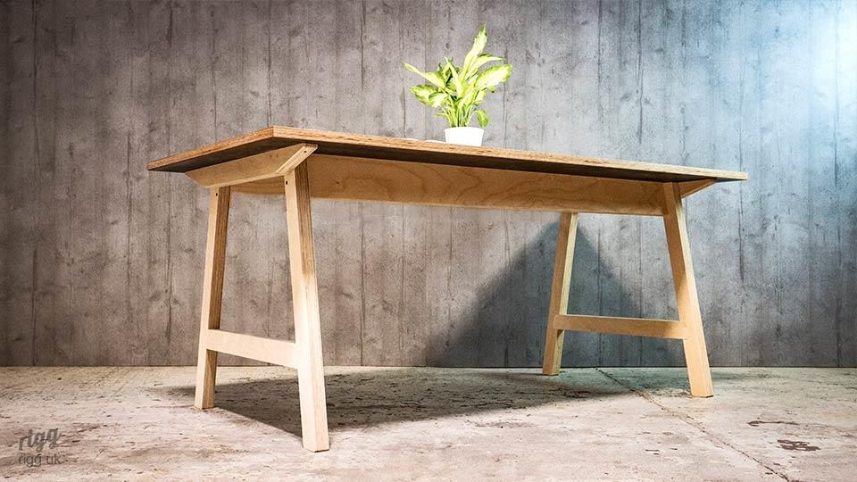 Plywood Table with A-Frame Legs
