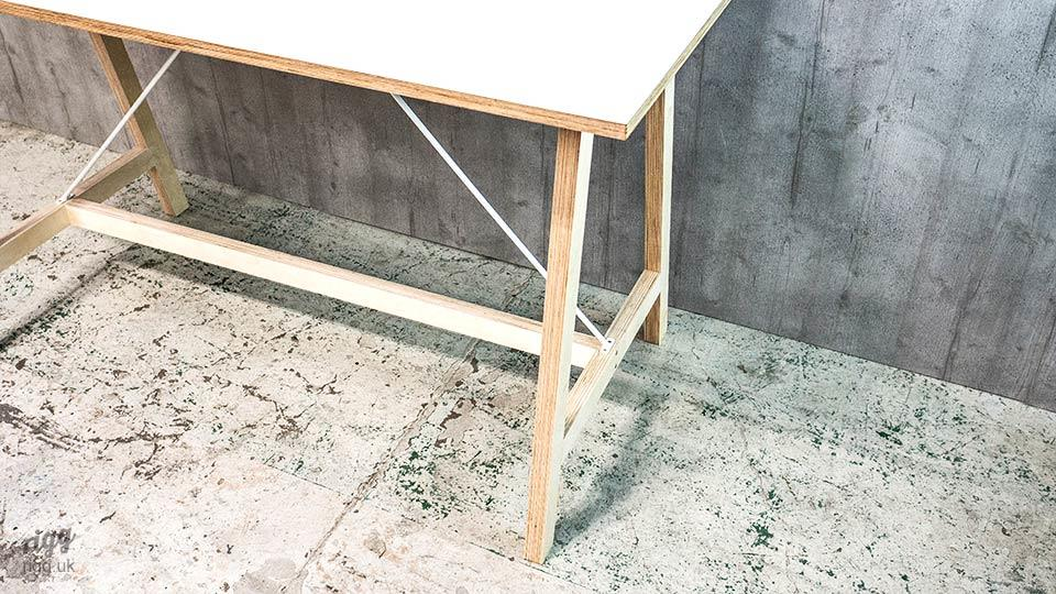 Slim A Frame Plywood Leg Table