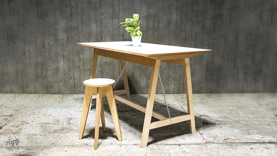 Trak - High Plywood Table