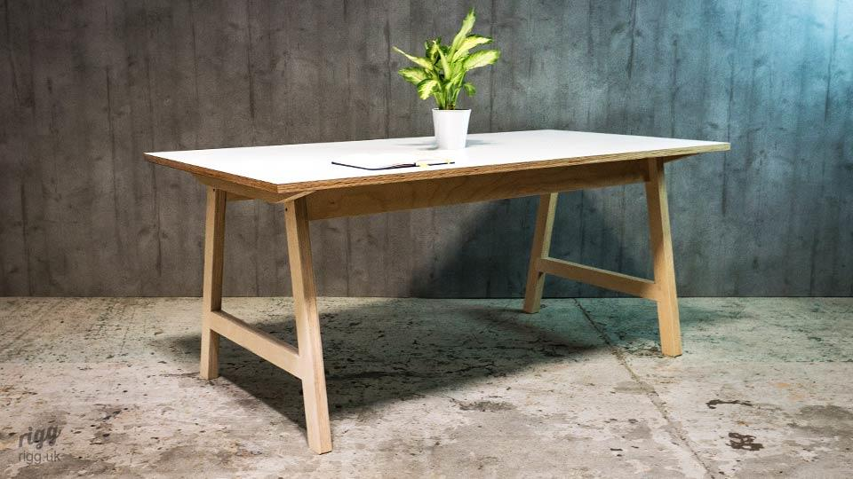 Trak Plywood Table
