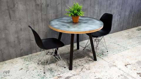 Stance Round Table - Plywood & Zinc Top