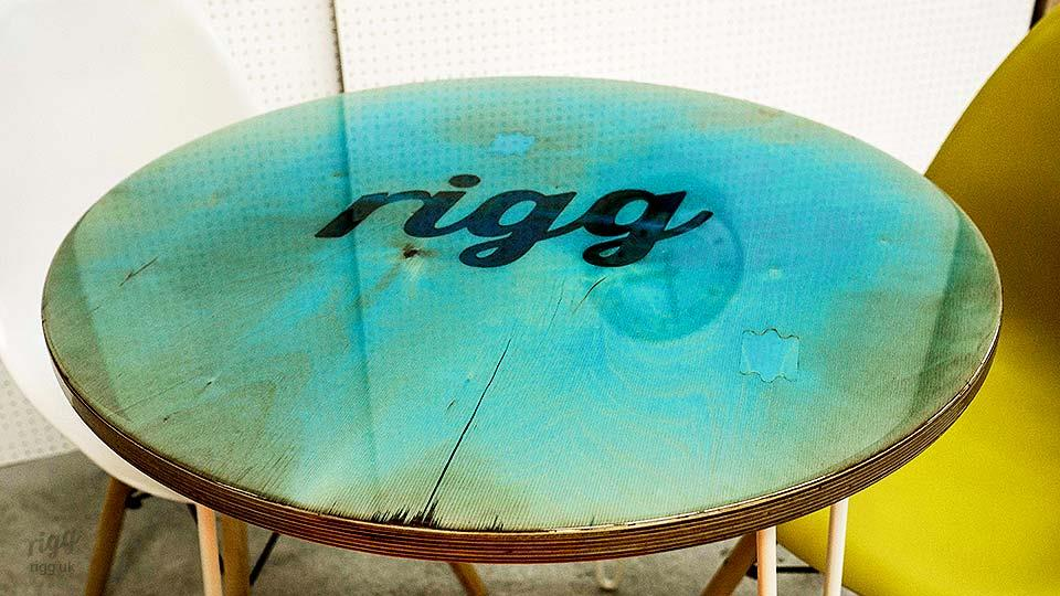 Resin Top Table