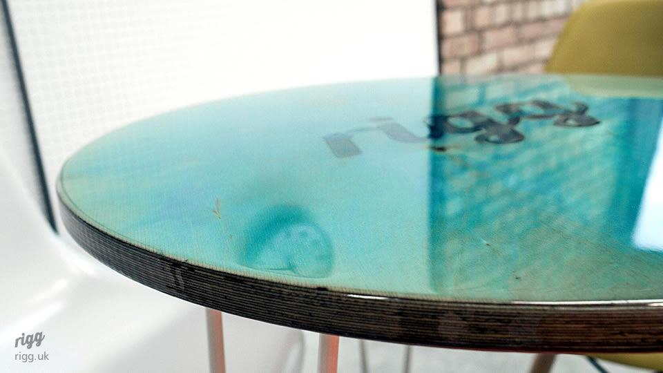 Small Round Resin Top Table