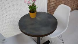 Small Round Zinc Bistro Table