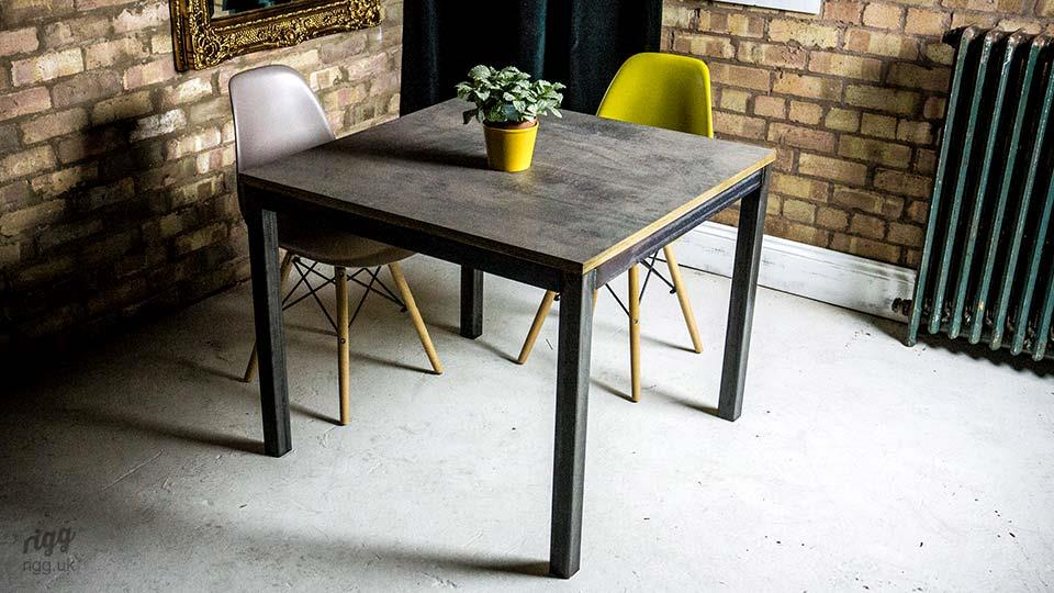 Bespoke Bistro Table Rugged Style