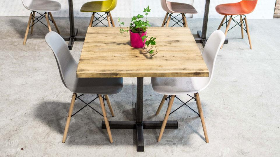 Character Rustic Wood Bistro Table