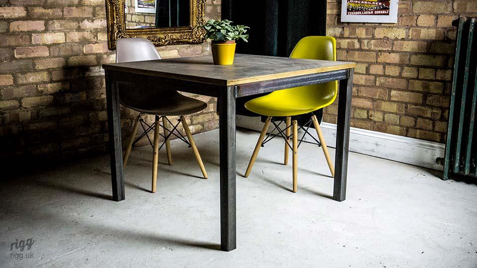 Industrial Style Laminate Bistro Table