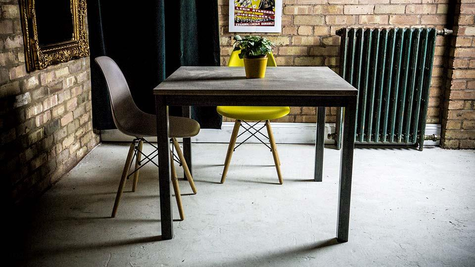 Industrial Style Plywood Laminate Bistro Table