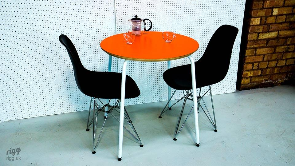 Small Round Bistro Table with Laminate Top