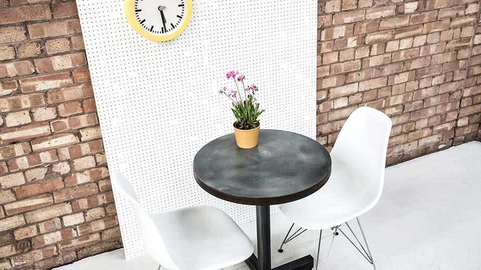 Small Round Zinc Cafe Table