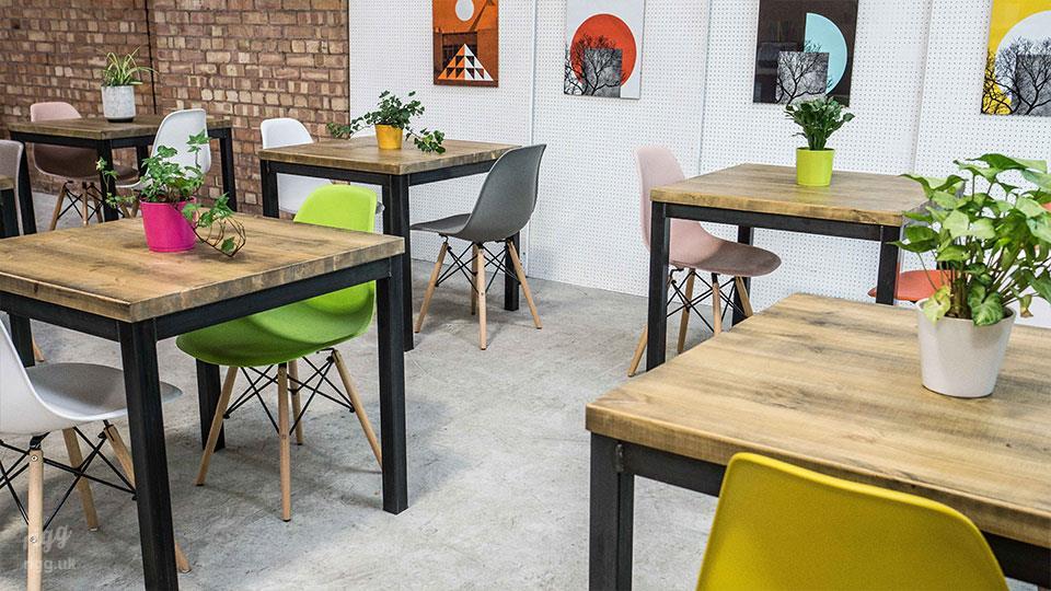 Quad Small Square Restaurant Table