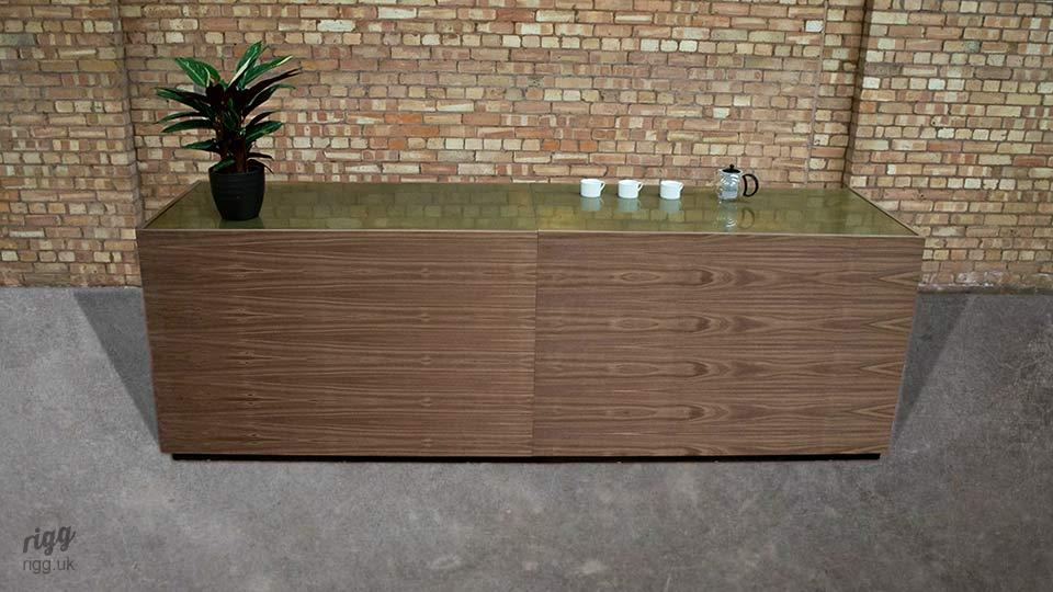 Brass Top Bar Counter with Walnut