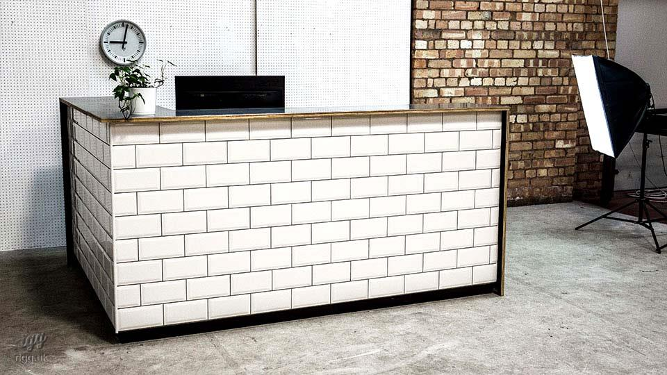 Metro Tile & Zinc Reception Desk