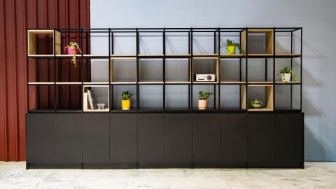 Flexx Grid Shelving with Cupboards