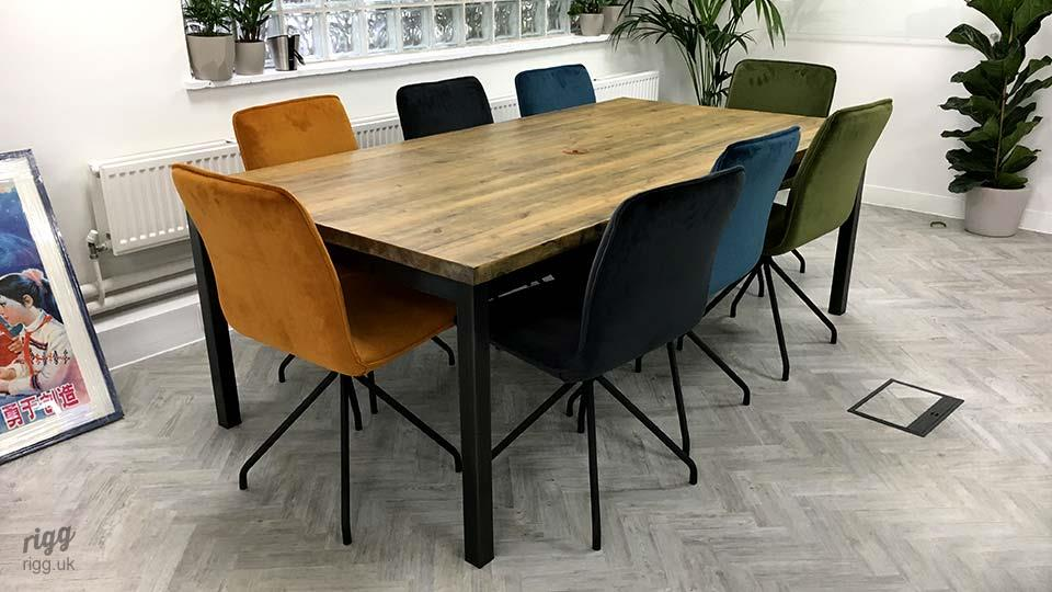Character Wood & Metal Meeting Table