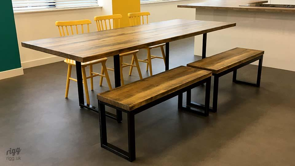 Loop Table with Chairs & Bench