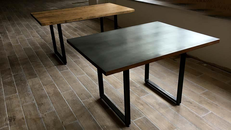 Loop Wood & Zinc Tables