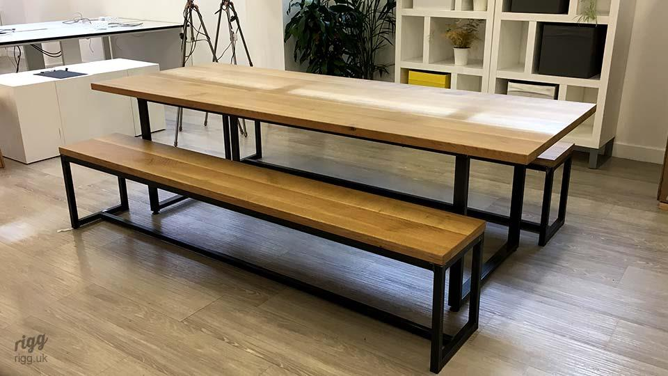 Modern Office Table with Benches