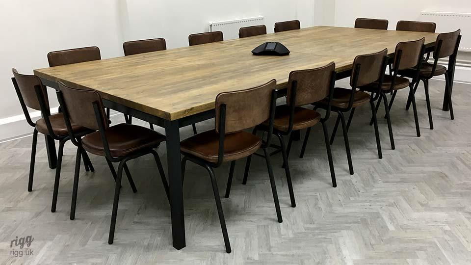 Quad Industrial Meeting Table