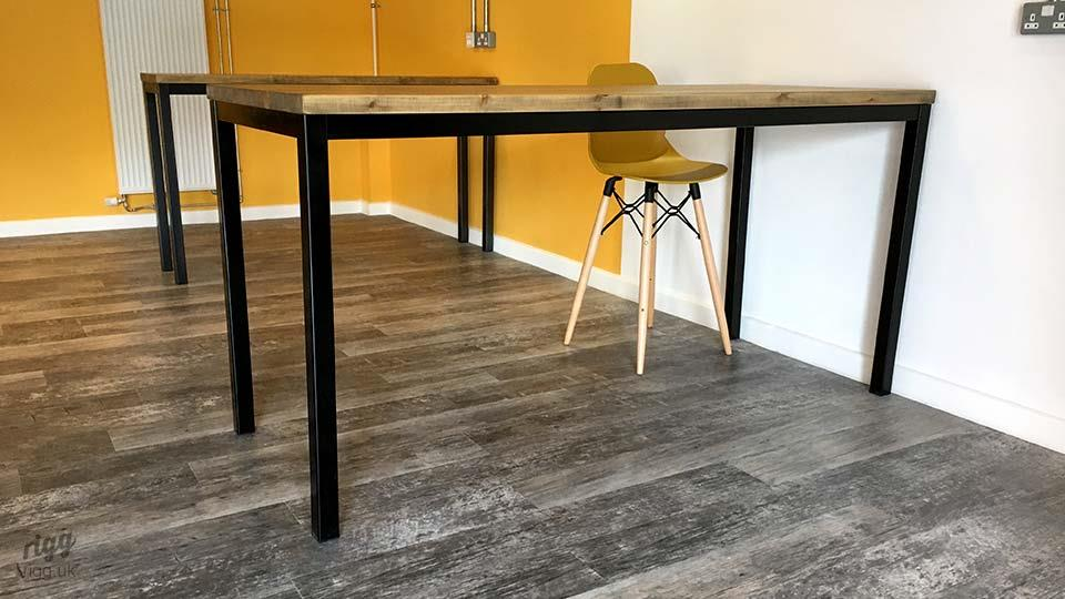 Quad Industrial Table for Stools