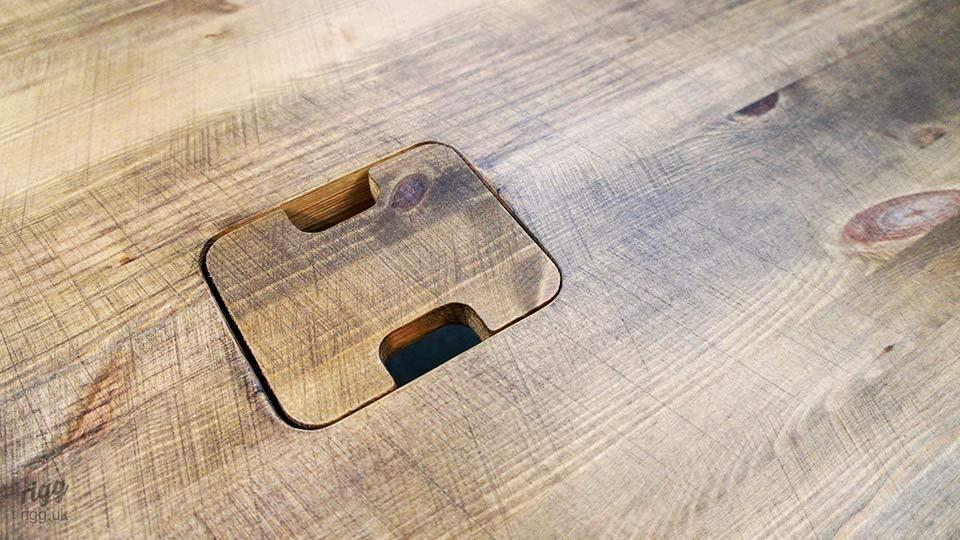 Small Wooden Cable Management Cover