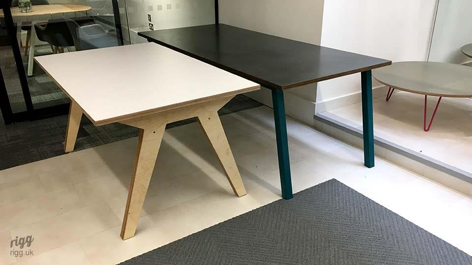 Stance and Synk Tables in Showroom
