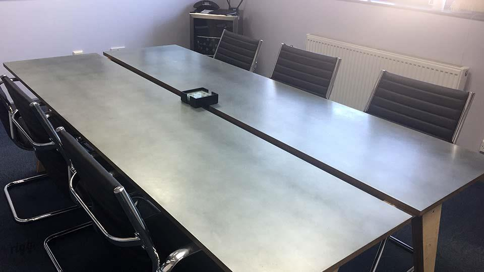 Synk Office Meeting Table with Central Cable Channel