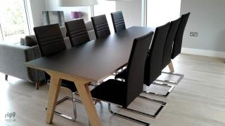 Synk Plywood Dining Table Black Top