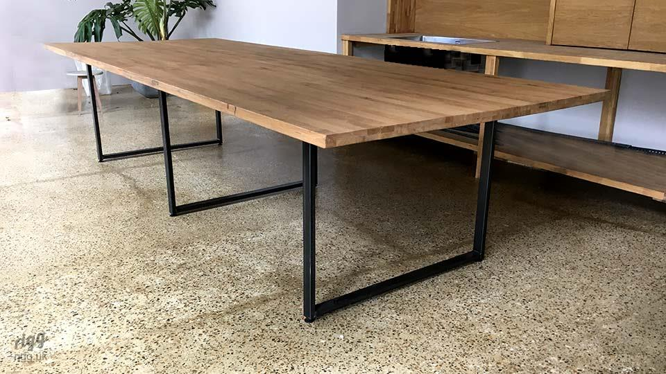 Large Industrial Modern Table with Central Leg