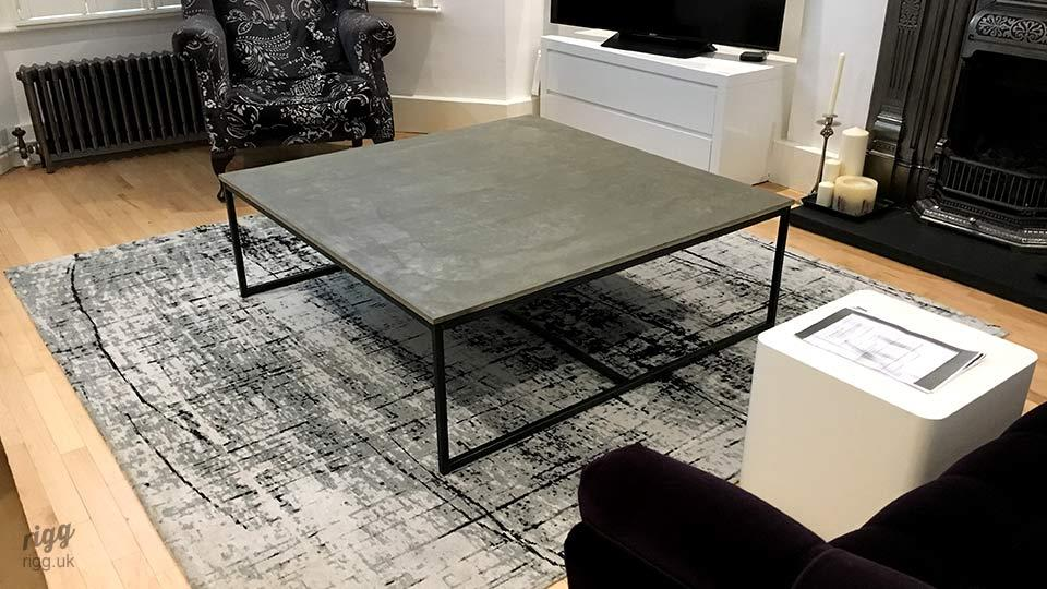 Large Square Concrete Coffee Table